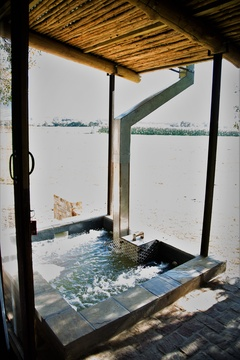 Wood Fire Hot Tub at Bergsicht Country Cottages, Western Cape